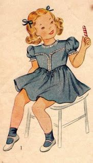 En casa de Tía Gretel: Patrones infantiles de 1940