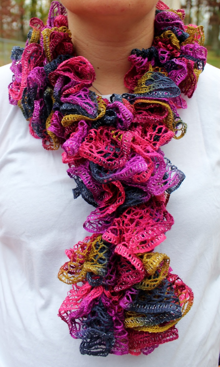 Crochet Scarf Pattern Using Red Heart Sashay : 1000+ images about Sashay on Pinterest Sashay scarf, Hip ...