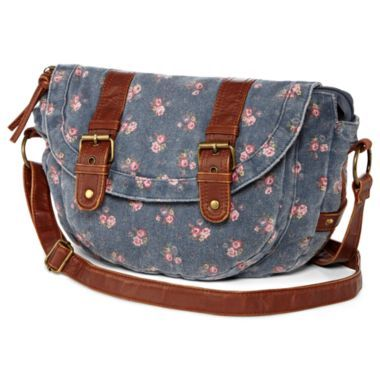 in an allover ditsy floral print, this crossbody-style messenger bag ...