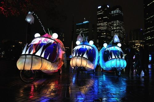 festival of sydney past images   ... this sweet ride that was part of the VIVID Light Festival in Sydney
