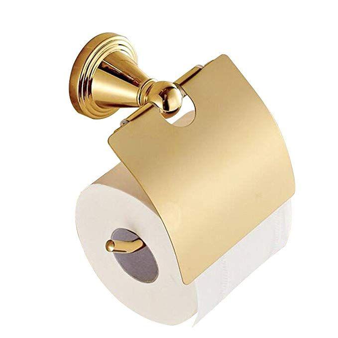 Casewind Pratique Porte Rouleau Papier Toilette Or Avec Rabat Style Moderne Distribut Accessoire Toilette Porte Rouleau Papier Toilette Rouleau Papier Toilette