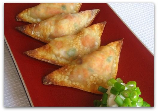 Crispy Baked Shrimp Wontons - Great recipe and helpful tip for getting them nice and crispy.