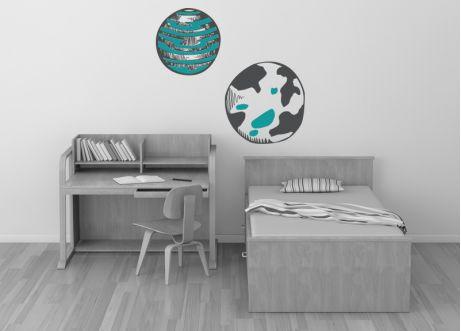 Θεματικά :: Διάστημα :: Πλανήτες - Αυτοκόλλητα τοίχου, παιδικό δωμάτιο, kids wall decals, nursery stickers