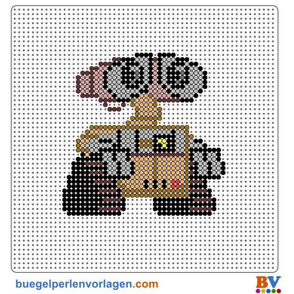 Wall-E Pixar Bügelperlen Vorlage