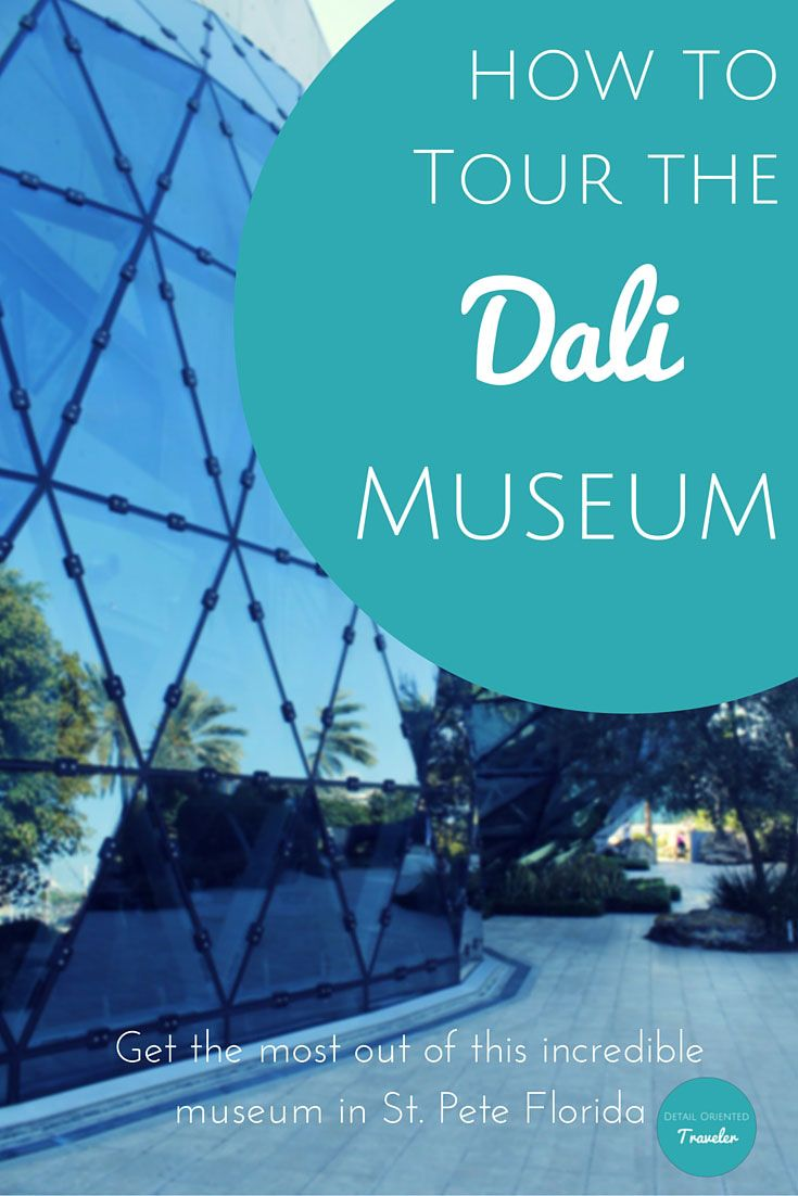 The best way to visit the Dali Museum in St. Petersburg Florida. Tips and Tricks to get the most out of your visit to this exciting location. Even young children can get something out of this odd museum. Great family travel destination. via @dotraveler