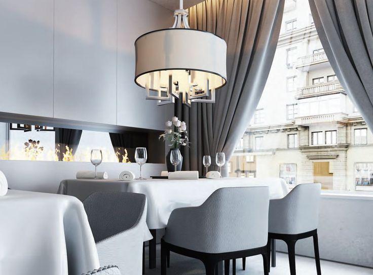 Lampa Dune firmy HESMO w pięknej aranżacji.  #restauracje #lampa #żyrandol