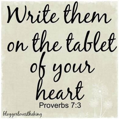 PROVERBS 7- SOAK – WRITE THEM ON THE TABLET OF YOUR HEART