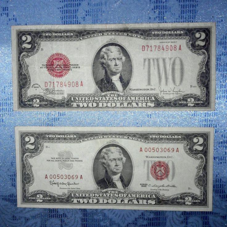 2 tờ đô năm 1928 và 1963. Mộc đỏ