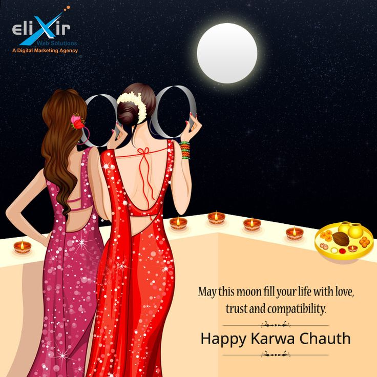 May this moon fill your life with love, trust and compatibility. #HappyKarwaChauth