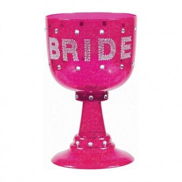 Celebrate your Hens Night in style with this hot pink Bride goblet. This awesome Hens Party cup holds almost a litre!  http://www.hensnightshop.com.au/hot-pink-bride-goblet-cup.html