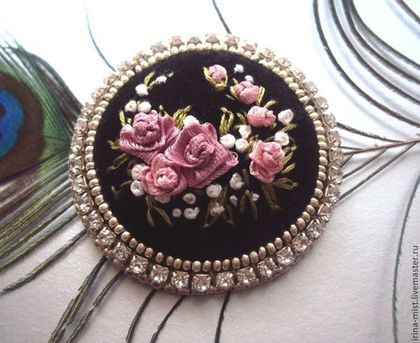 Make something like this with polymer clay, with rhinestones chain framing it.