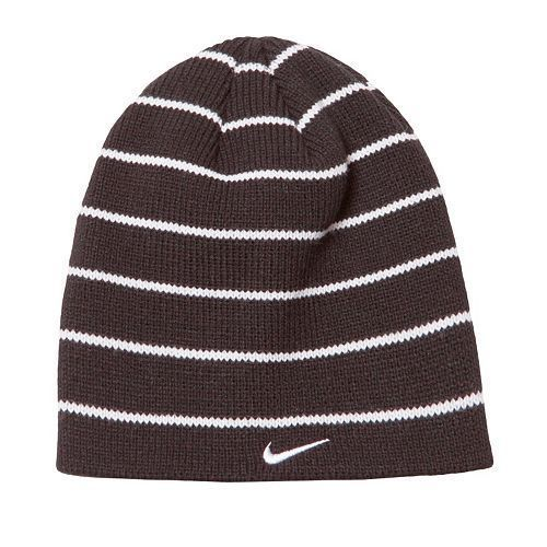 Details about Nike Boys Hat Beanie Cap Black White Striped 8 20 Gift ... dce20da7c51