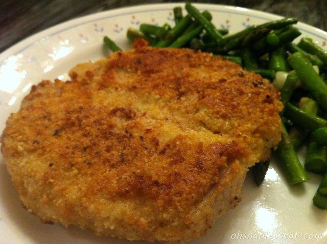 Easy Paleo Almond Crusted Pork Loin Chops. Really basic but still good! Whole30