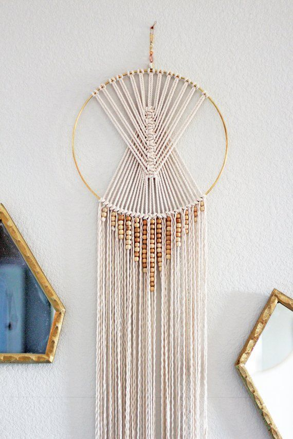"Macrame Wall Hanging – Boho Dreamcatcher – Boho Wall Art – Macrame Home Decor – ""Indus"""