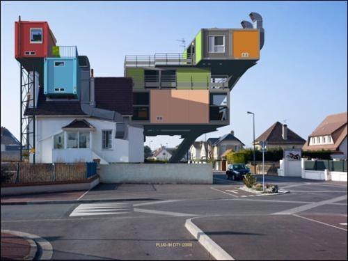 Alain Bublex, Plug-in City, 2000. Série «un week-end à la mer» 3. Épreuve…