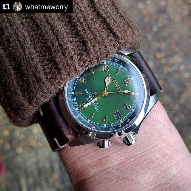 #mulpix Wrist shot of the  #Seiko Alpinist. By @whatmeworry. A piece that is…