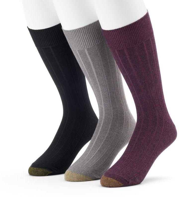 Gold Toe GOLDTOE Men's GOLDTOE 3-pack Hampton Fashion Dress Socks