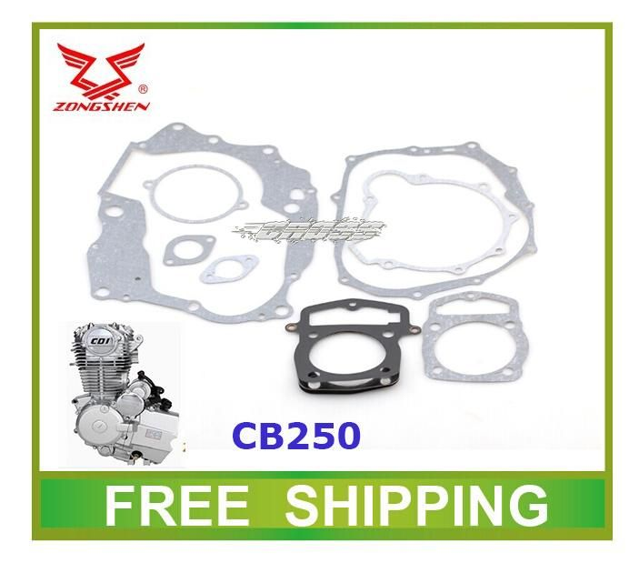 [Visit to Buy] loncin zongshen cb250 air cooled engine gasket kayo dirt bike atv quad 250cc accessories free shipping #Advertisement