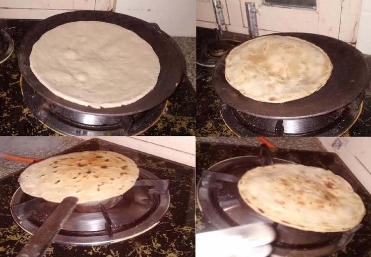 Bajre Ki Roti (रोटी बाजरा), Bajre ka atta (Pearl Millet flour) - you can do them with Wheat flour or whole wheat flour. It is not necessary to leaven the dough, just let it rest (15min) to activate gluten.