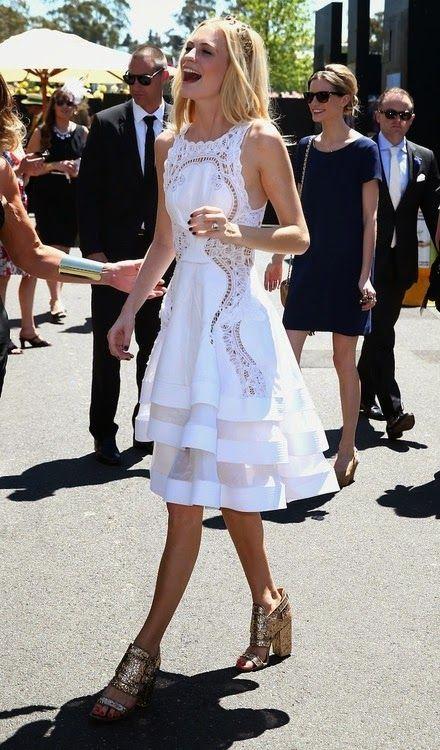 dress lace white poppy delevigne
