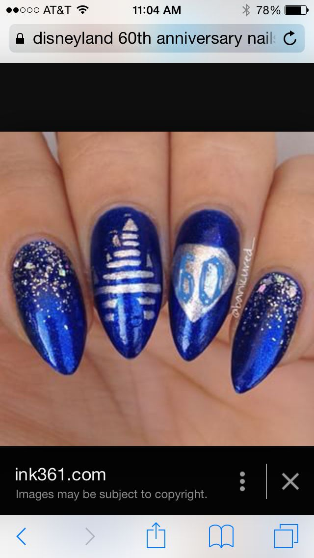 256 best disney nails images on pinterest disney nails disneyland 60th anniversary nails prinsesfo Gallery