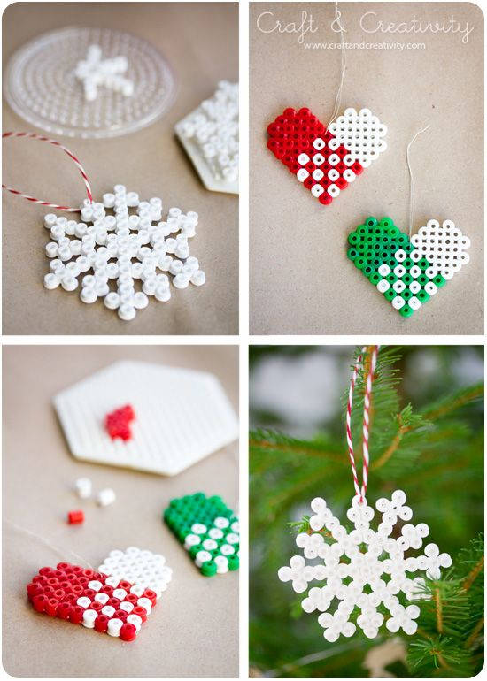 Hama beads ornaments.