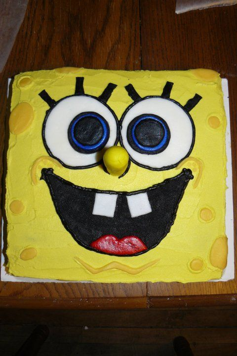 Best Sponge Bob Cake Ideas On Pinterest Spongebob Birthday - Happy birthday bob cake