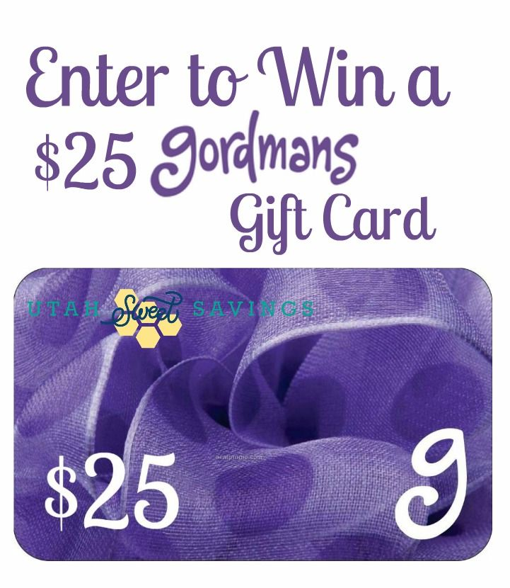 Enter this sweepstakes to win a 25 dollar Gordmans gift card!