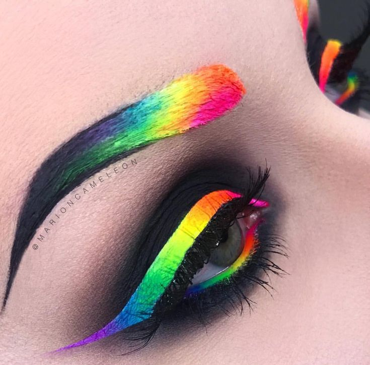 Stargazer Neon Eye Dust were used on both the eyes and brows in their Pride 2017 inspired look