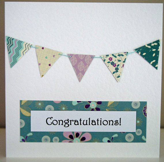 Congratulations Bunting Card