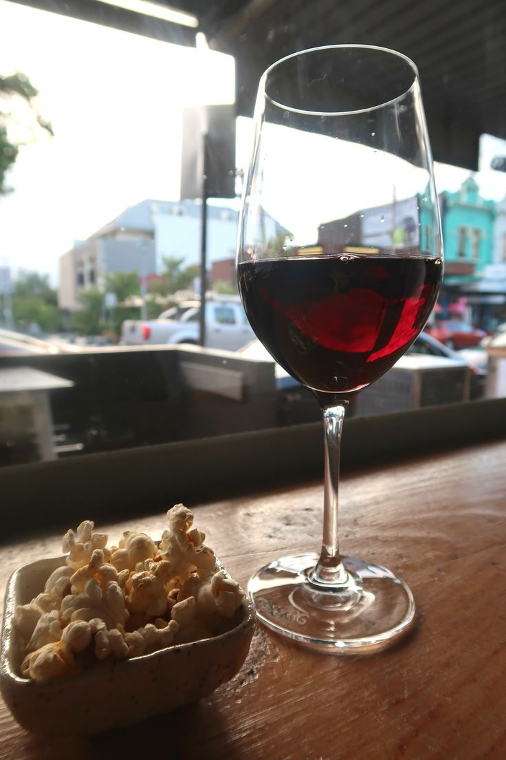 Popcorn and red wine on Chapel Street, Melbourne