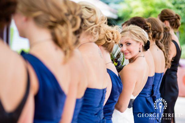Such a unique bridal party photo!
