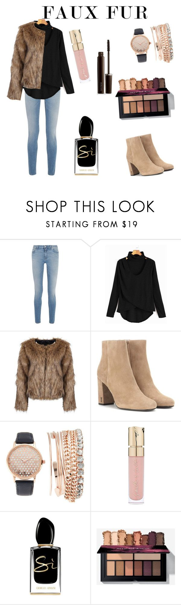 """""""Faux Fur"""" by spookie1 ❤ liked on Polyvore featuring Givenchy, Yves Saint Laurent, Jessica Carlyle, Smith & Cult, Giorgio Armani and Laura Mercier"""
