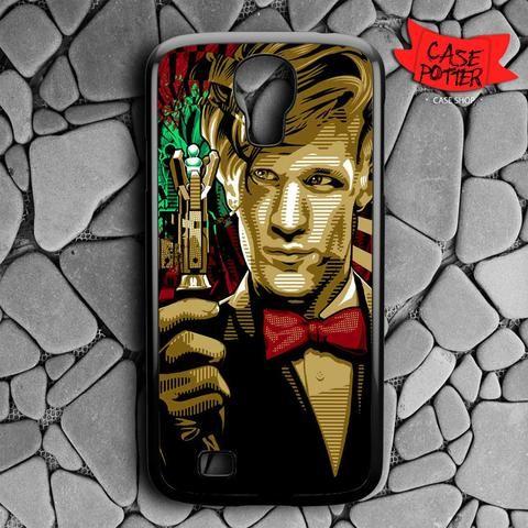 Doctor Who Matt Smith Samsung Galaxy S4 Black Case