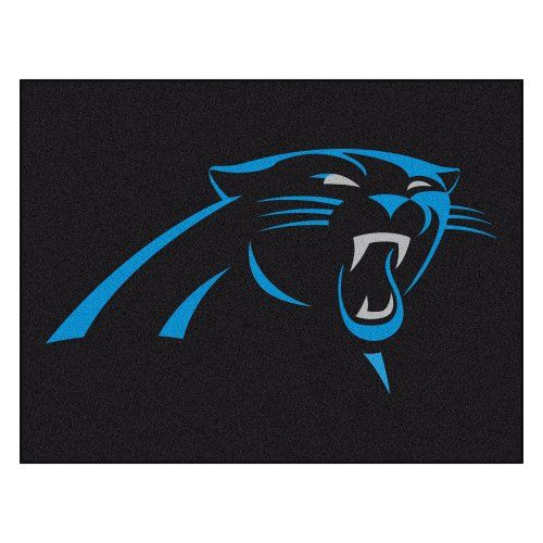 Fanmats NFL Carolina Panthers Nylon Rug - All Star Mat  http://allstarsportsfan.com/product/fanmats-nfl-carolina-panthers-nylon-rug/?attribute_pa_style=all-star-mat  9 ounce, 100 % nylon face Recycled vinyl backing for a durable and longer-lasting product Machine made and tufted in the USA