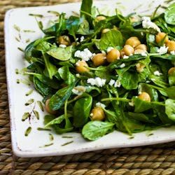 Kalyn's Kitchen®: Recipe for Arugula Chickpea Salad with Feta and ...