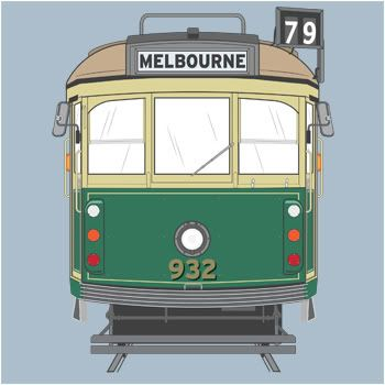 As a child I lived on a street that had trams running along it.   Melbourne heritage tram.
