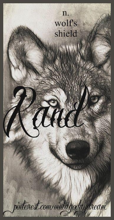Baby Boy Name: Rand. Meaning: Wolf's Shield; Shield. Origin: Old German. https://www.pinterest.com/vintagedaydream/baby-names-by-me-vintagedaydream/