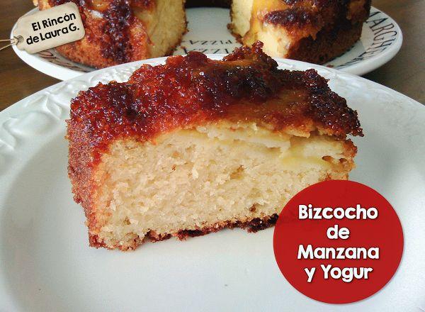 Bizcocho fácil de Manzana y Yogur   Cocinar en casa es facilisimo.com