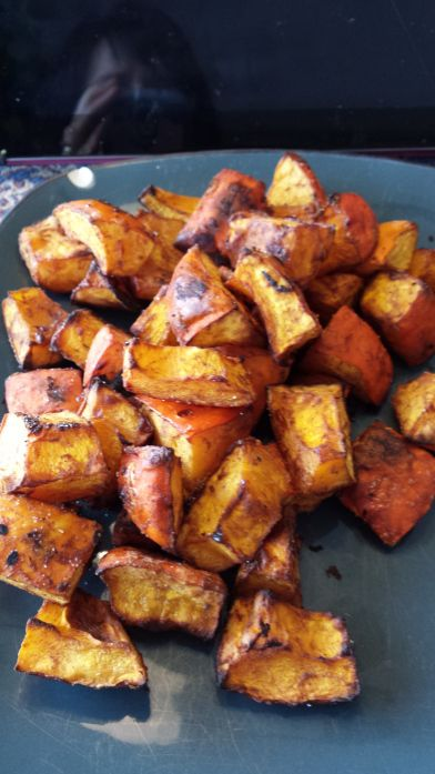 Red Kuri Squash with cumin salt. The whole cumin salt combo was delicious. Would be good on any veggie.