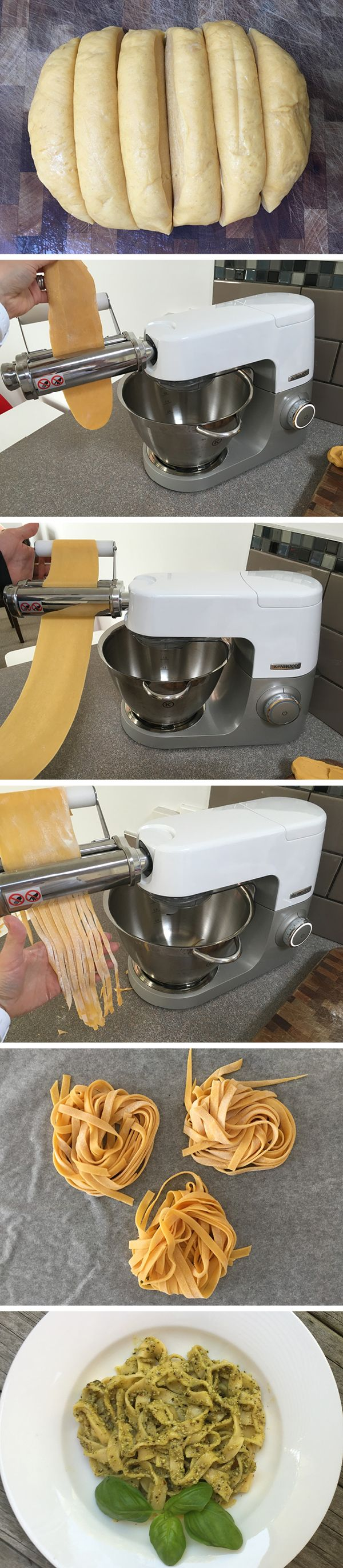 Basic Pasta for the Kenwood Pasta Maker Attachment