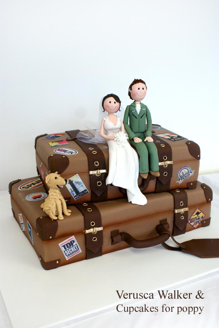 Suitcases wedding cake by ~Verusca on deviantART