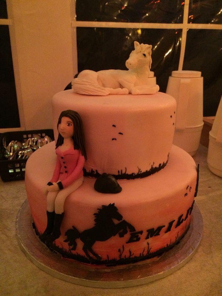 Konfirmation heste horse fondant kage cake