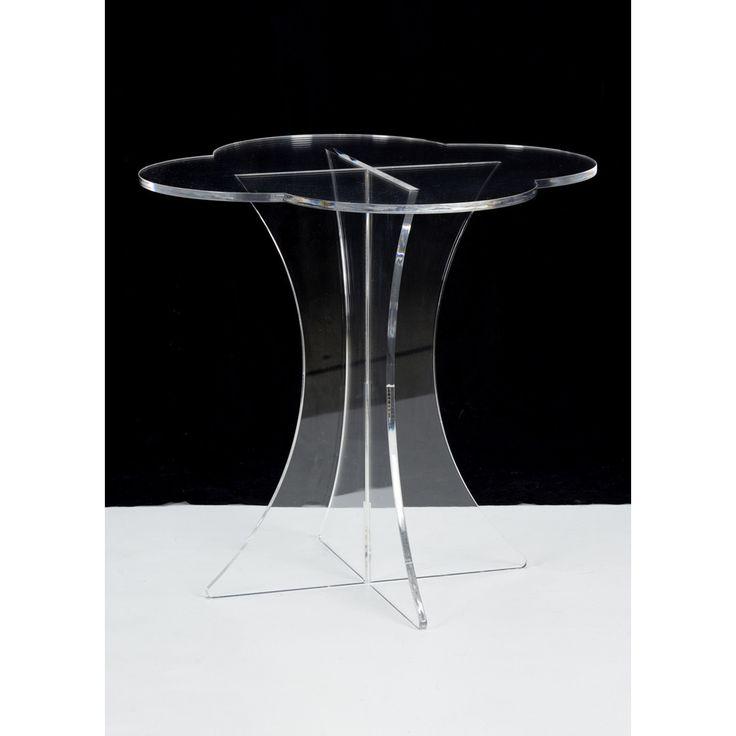 Chelsea House Scalloped Acrylic Side Table