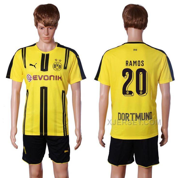 http://www.xjersey.com/201617-dortmund-20-ramos-home-soccer-jersey.html 2016-17 DORTMUND 20 RAMOS HOME SOCCER JERSEY Only $35.00 , Free Shipping!