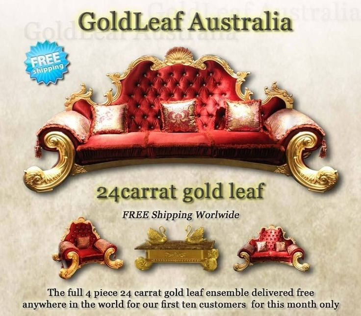 REDUCED FROM $49,000 goldleaf furniture 3 seat 2 seat 1 seat coffee tab 24 carat