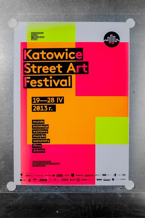 Katowice Street Art Festival – silkscreen poster series by Marta Gawin, via Behance