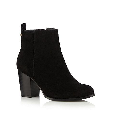 Faith Black suede high boots | Debenhams