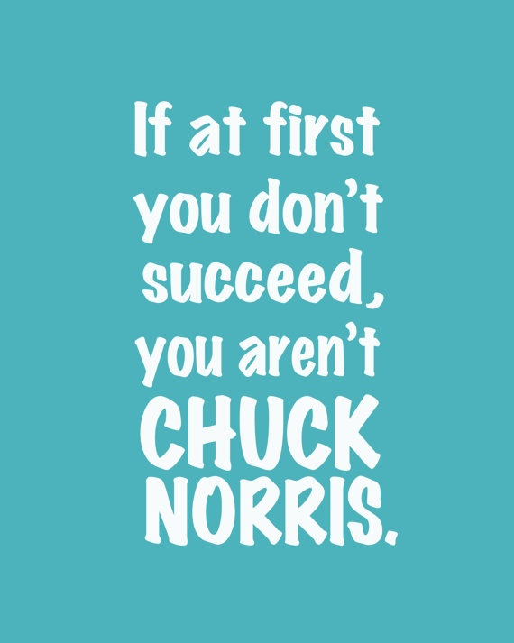 if at first you don't succeed, you aren't chuck norris