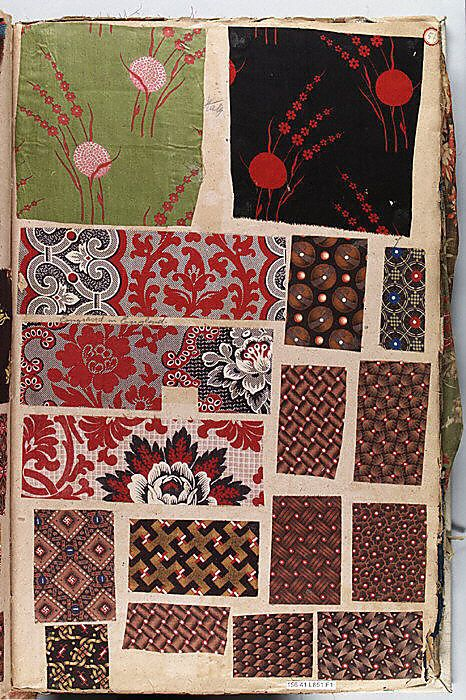 Textile Sample Book assembled by Louis Long. Culture European 1860-95.